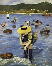 Mariscadores cogiendo berberecho