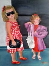 Niñas pequeñas disfrazadas