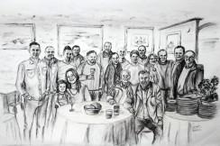Amigos en Restaurante Luchana